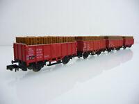 Arnold N 1:160 5901 4-teiliger Hochbordwagen Zug E 090 Om 31 2-achsig mit Ladung