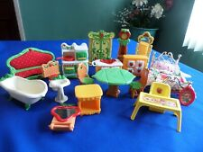 VINTAGE STRAWBERRY SHORTCAKE BERRY HAPPY HOME FURNITURE LOT