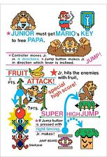 Arcade Donkey Kong Jr. Junior decal set