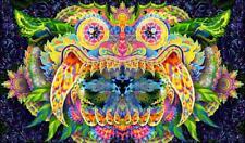 Trippy Blacklight Art Tapestry Fluorescent Psytrance Decoration UV Active Wall