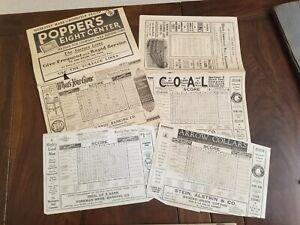 3 1921 Chicago Cubs Baseball Scorecards