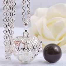 Pregnancy Harmony Ball Angel Caller Mexican Bola Pendant Chain Necklace Jewelry