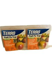 Terro PCO Fruit Fly Trap (2 Packages) Non Toxic Fast Acting Outdoor Indoor