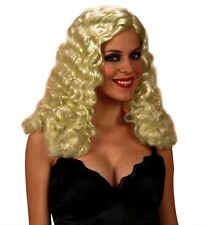 Ladies Blonde Moulin Rouge Wig Curly Burlesque 20s Fancy Dress