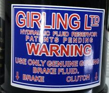 Decal for Girling Clutch Brake Reservoir Austin Healey 100 3000 Triumph TR2 TR3a