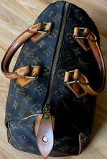 Louis Vuitton Brown Monogram Logo Speedy Satchel 25 Hand Bag Doctor Bag Auth