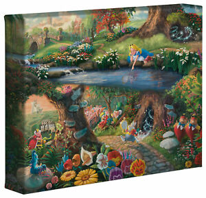 Thomas Kinkade Studios Disney Alice in Wonderland 8 x 10 Gallery Wrapped Canvas