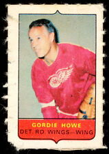 1969-70 OPC O-PEE-CHEE MINI card 4 in1 GORDIE HOWE RED WINGS VG-EX STAMP Sticker