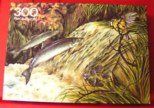 Vintage Arrow Michael J.Loates SALMON LEAPING 300 pc Jigsaw Puzzle Fish/Blue Tit