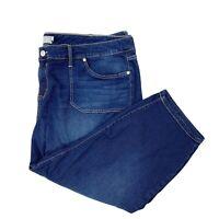 Torrid Women's Sz 28 Capri Pants Jeans Skinny Stretch Dark Wash Denim