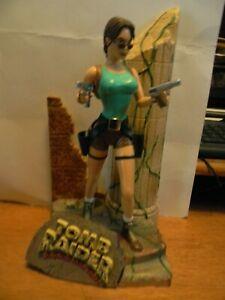 Vintage Lara Croft Tomb Raider Plastic Statue