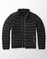 NWT- A&F - Abercrombie & Fitch Men Lightweight Down Puffer Jacket  Black  S