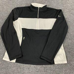 Vintage Y2K Nike Women's Large (12-14) 1/4 Zip Mockneck Pullover Jacket Dri-Fit