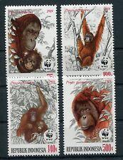 Indonesien 1291/94 postfrisch / WWF - Affen - Orang - Utan ...............1/1325