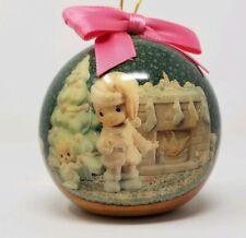 Precious Moments Round Christmas Ornament 1994