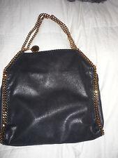 $1195 Stella McCartney PURSE TOTE Falabella Shaggy DEER TOTE BLACK GLD CHAIN BAG