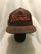 Vintage Cleveland Browns Corduroy Sports Specialties Script Strapback Hat