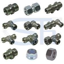 Hydraulik Verschraubung Schneidringverschraubung DIN Metrisch Stahl verzinkt LR
