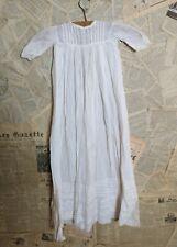 Antique Victorian Baptême Robe, Robe de bébé, broderie anglaise