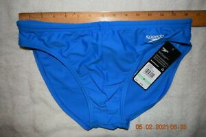 Mens  Speedo Solar swim brief   Blue  34    [#1366]
