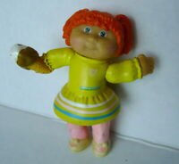 "1984 Cabbage Patch KidsYellow Dress with Ice Cream Moveable LIMBS 3.25"" PVC"