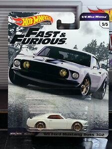 Hot Wheels '69 Ford Mustang Boss 302 Fast & Furious 1/4 mile Muscle