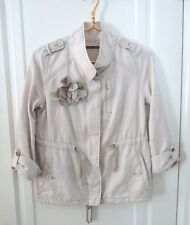 Daughters of the Liberation Womens Sz 2 XS Khaki Beige Linen Blend Blazer Jacket
