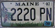 2008 MAINE CHICKADEE LICENSE PLATE # 2220 PN  TRIPLE 2'S