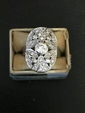 25 Signed Ati Size 6 Ring Cz Cubic Zirconia Sterling Silver