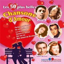 RARE Les 50 plus belles chansons d'amour(aznavour,beart,becaud,brel,dalida,piaf)