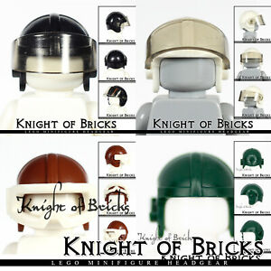 LEGO Minifigure Black White Brown Headgear Helmet Cap Aviator Fighter with Visor