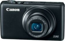 Canon PowerShot S95 10.0MP HD Digital Camera w/8G Card, Charger,Battery, Case