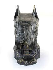 Schnauzer (abgeschnitten), großer Kopf Resin, Art Dog, CH