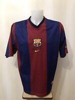FC Barcelona 1998/1999 home XL Nike shirt jersey maillot soccer football Barca