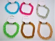 Cute simply stretch style colorful crystal Beaded fashion jewelry bracelet lot