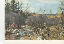 "1972 Vintage HUNTING ""WOODCOCK BY THE BROOK, 1948"" NEW ENGLAND Color Lithograph"