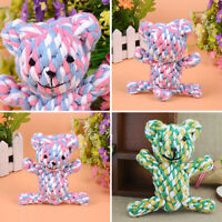 Funny Chew Knot  Bear Tough Strong Puppy Dog Pet Tug War Play Fetch Rope Toys
