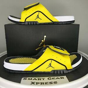 Nike Jordan Hydro IV 4 Retro Lightning Yellow Slide Sandals Men's 12 DN4238-701