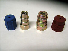 "R-12 to R-134A STEEL  RETROFIT ADAPTER  FITTING KIT 1/4"" (HIGH) & 1/4"" (LOW)"
