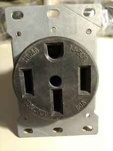 NEMA 14-50R 50amp 125/250v Receptical - Outlet Socket Plugs Covers Pre-owned