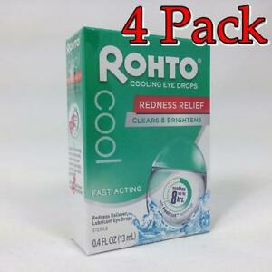 Rohto Cool Redness Relief, 0.4oz, 4 Pack 310742010749T400