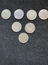 7 Pc lot Half Cents 1803-1808 F-AG