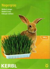 Nibble Grass Seeds Healthy food for rabbits & small pets/Inc dish & mineral soil