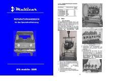 Reparaturhandbuch Multicar 25 M25 IFA no W50 L60 Robur W 50 L 60 DDR Anleitung