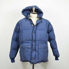 Vintage EDDIE BAUER Seattle Hooded Down PARKA Jacket / Blue LARGE