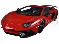 LAMBORGHINI AVENTADOR SV RED 1/18 DIECAST MODEL CAR BY KYOSHO C 09521 R