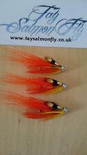 "3x Flamethrower 3/4"" Copper Tube Salmon Fishing Flies"