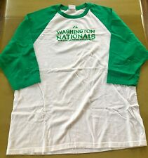 Washington Nationals Clover St. Paddy's Raglan Shirt Men's Xtra Large EUC
