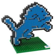 NFL Detroit Lions 3D BRXLZ Puzzle Logo Set Football