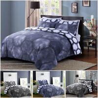 Faded Denim Duvet Quilt Cover & Pillow Case Bedding Set Single Double King